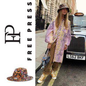 FREE PRESS FLORAL PRINT BUCKET HAT
